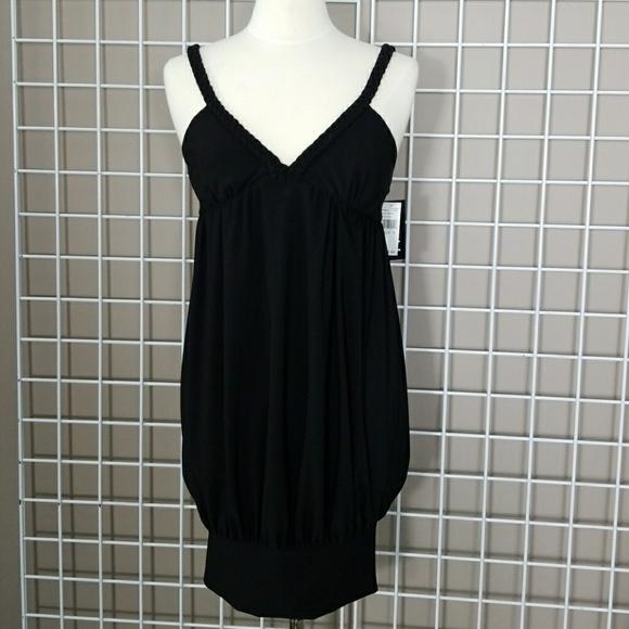 ABS Allen Schwartz Dresses | Abs Black Hip Belt Tank Dress Medium | Poshmark